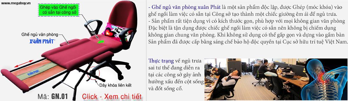 Ghế ngủ văn phòng Xuân Phát GN-01
