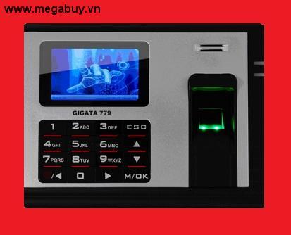 Máy chấm công vân tay  GIGATA 779  (Có Pin lưu điện 8 giờ khi mất điện)