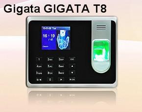 Máy chấm công Vân Tay+thẻ  GIGATA T8
