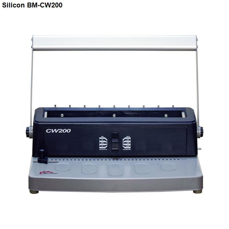 Máy đóng sách gáy kẽm Silicon BM-CW200