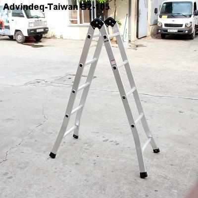 Thang nhôm đài loan gấp đa năng 2 đoạn khóa tự động Advindeq B2-105