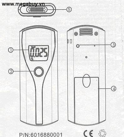 Máy đo nồng độ cồn TigerDirect ATAMT125