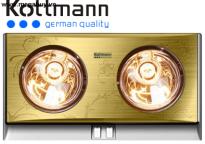 Đèn sưởi 2 bóng Kottmann (vàng/bạc) K2B (H/G/S)