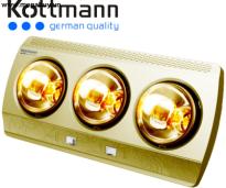 Đèn sưởi 3 bóng Kottmann (vàng/bạc) K3B(H/G/S)