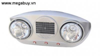 Đèn sưởi phòng tắm Braun 2 bóng BU02P