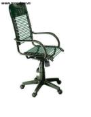 Ghế xoay dây chun lưng cao có đệm đầu gật gù CX03