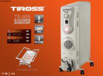 Máy sưởi dầu Tiross TS925, 9 thanh, hẹn giờ, quạt sưởi, giá phơi