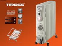 Máy sưởi dầu Tiross TS926, 13 thanh, hẹn giờ, quạt sưởi, giá phơi