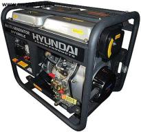 Máy phát điện Diesel Hyundai-DHY6000LE , 5KW ,máy trần, đề nổ