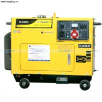 Máy phát điện dầu KAMA KGE6500T3 ,5 KVA ,đề nổ chống ồn 3 pha