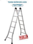Thang nhôm đài loan gấp đa năng 2 đoạn khóa tự động Advindeq B2-125