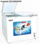 Tủ đông Hòa Phát HCF-655S2PĐ(270 Lít, 2 ngăn đông-mát,giàn đồng)