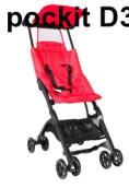 Xe đẩy em bé POCKIT màu đỏ