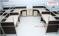 Vách ngăn gỗ trên kính -VNG01