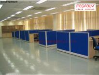 Vách ngăn khung nhôm bọc nỉ - VNN01