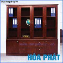 Tủ giám đốc Hòa Phát, 4 cánh kính trên, 3 ngăn tài liệu DC2000H6