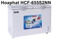 Tủ đông Hòa Phát HCF-655S2NN(270L, 2 ngăn, nhôm)
