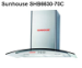 Máy hút mùi kính cong Sunhouse SHB6630-70C