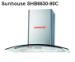 Máy hút mùi kính cong Sunhouse SHB6630-90C