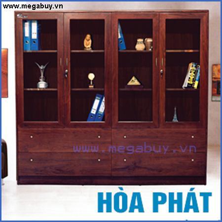 Tủ giám đốc Hòa Phát, 4 cánh kính trên, 4 ngăn tài liệu DC2000H5
